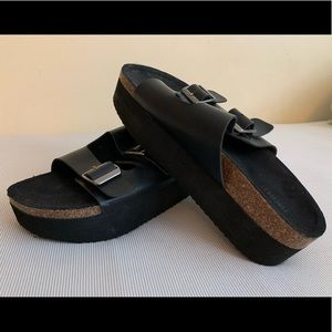 F21 platform sandals